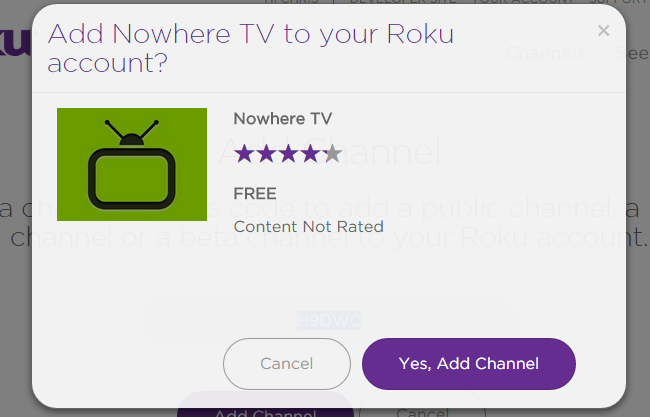 Nowhere TV On Roku