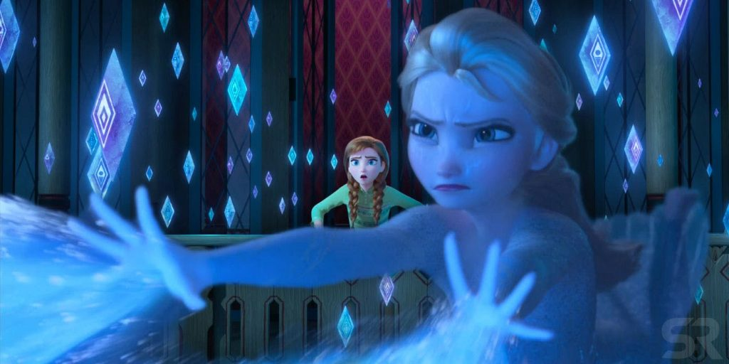 Elsa's new diamond powers